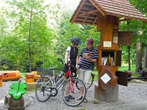 """Ein Bücherbaum an der """"Literatur-Tour"""" lädt zu einem entspannten Zwischenstopp ein. Foto: djd/Tourismusförderung Landkreis Tübingen"""