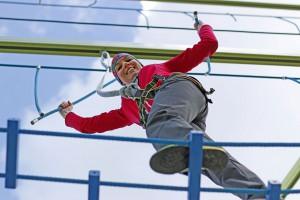 Der 13 Meter hohe Alpsee Skytrail ist die neue Attraktion im Immenstädter Ortsteil Bühl. Foto: djd/Alpsee Immenstadt Tourismus GmbH