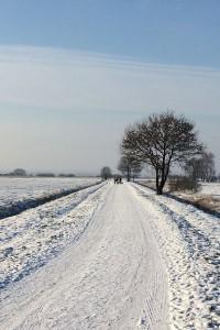 Der Winter verwandelt die Gegend rund um Worpswede oft in eine verschneite Märchenlandschaft. Foto: djd/Touristikagentur Teufelsmoor-Worpswede-Unterweser e.V./Jerome Derivaux