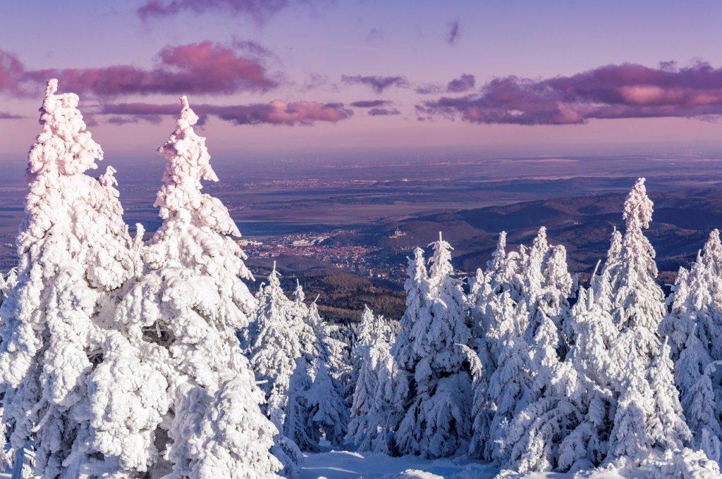 Winter im Harz - Blick auf Wernigerode