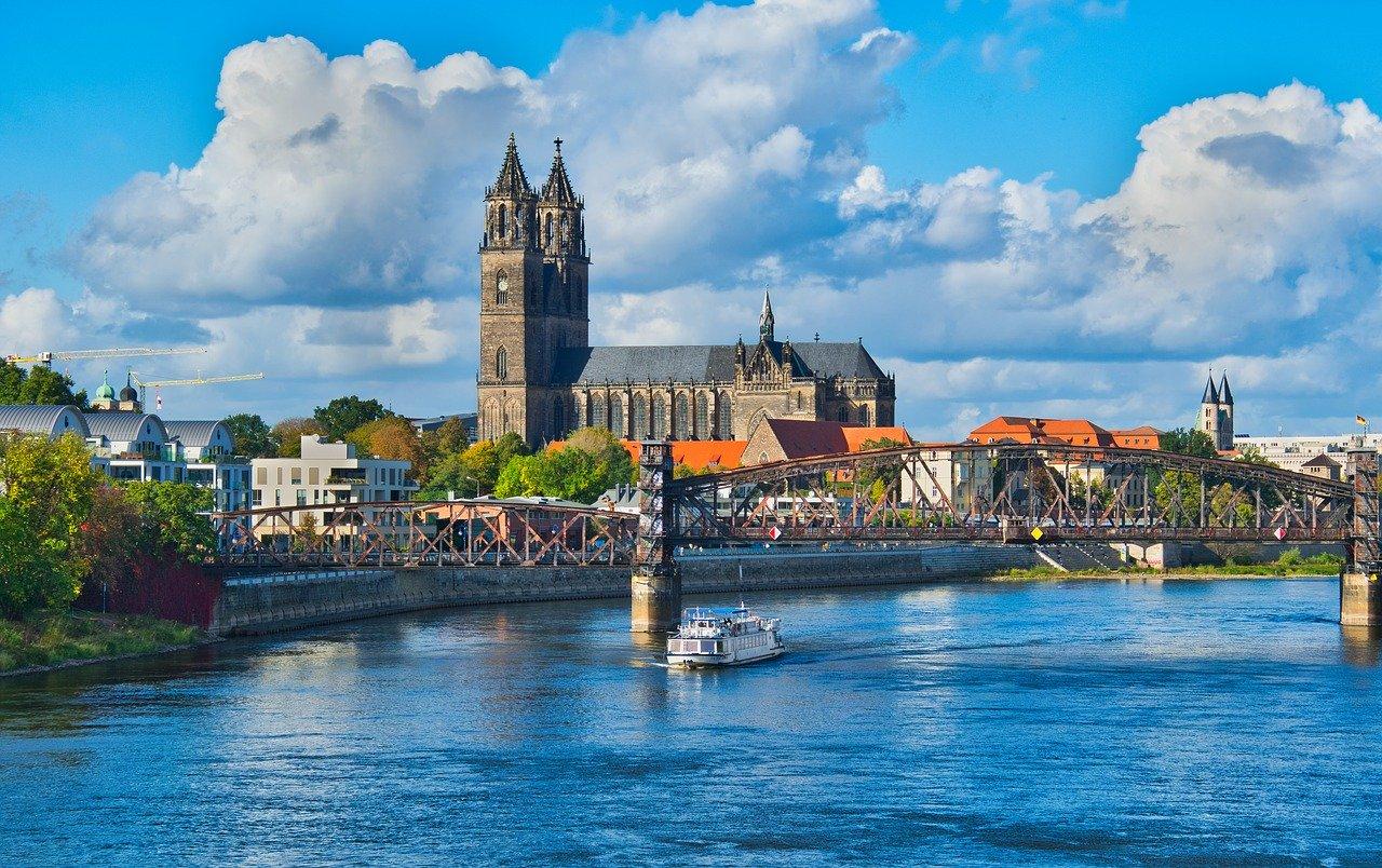 Blick auf Magdeburg an der Elbe